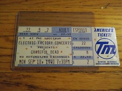Grateful Dead, Unused Ticket, 09/10/1990, The Spectrum, Philadelphia