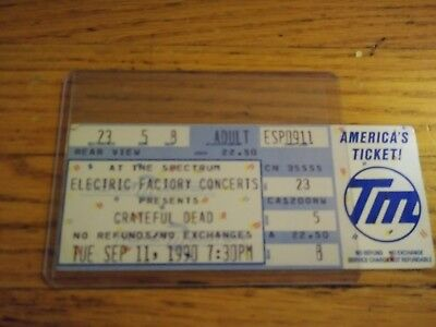 Grateful Dead, Unused Ticket, The Spectrum,  09/11/1990,