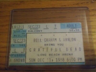 Grateful Dead, Concert Ticket Stub, 12/11/1988, Long Beach Arena