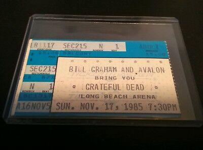 Grateful Dead,Ticket Stub, 11/17/1985, Long Beach Arena