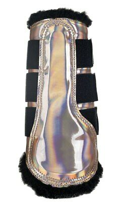 PROTECTION BOOTS -SPACE- HOLOGRAM ROSE GOLD - by HKM RRP $79.95