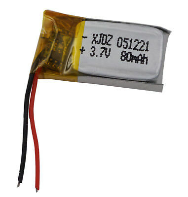 3.7V 80 mAh Polymer Li battery For GPS bluetooth headset pen Sat Nav  051221