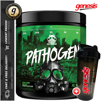 Outbreak Nutrition Pathogen - Extreme Pre Workout Energy Pumps + Free Gift!