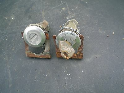 Mopar A Body Duster Demon Dart Left Right Door Locks With Key Matched Pair Oem