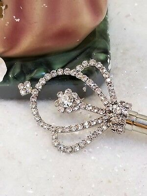 Rhinestone silver costume toy vintage angel STATUE scepter * Magic Wand