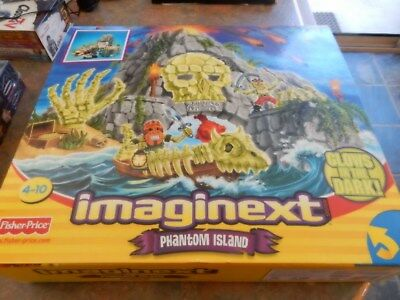 Fisher Price Imaginext Phantom Island New Boxed Glows in the Dark New Sealed