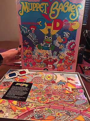 Jim Henson's 3D Muppet Babies Colorforms 1985 Vintage Game Toy