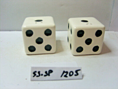 dice salt and pepper shakers