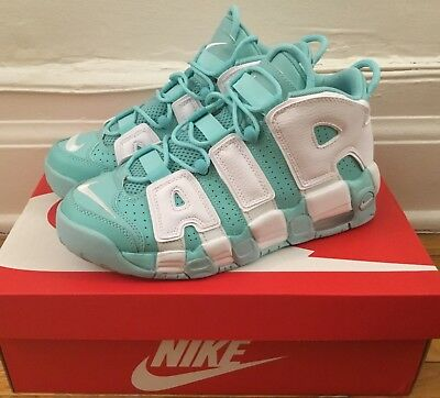 new product 08dee 3e3a6 NIKE AIR MORE UPTEMPO GS Size 7Y ISLAND GREEN WHITE 415082-300