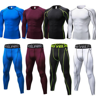 Men Compression Athletic Running Tights Dri-fit Under Base Layers Set Sportswear
