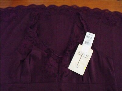 Maggie T Petticoat-Intimates By Berlei-Size 16-Aubergine-Full Slip-New With Tags