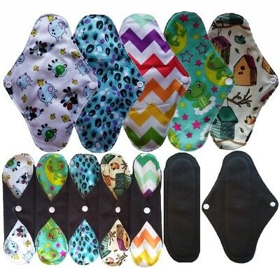 50 Pack Wholesale Bamboo Cloth Menstrual Pads Panty Liner Washable Reusable