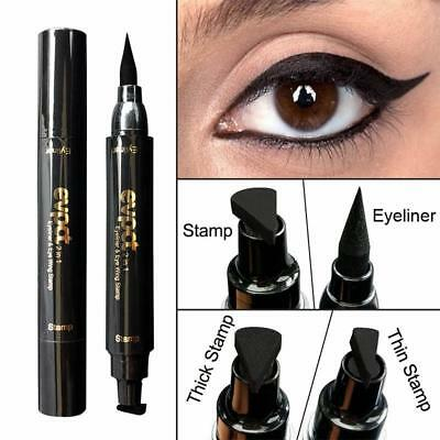 Trendy Winged Eyeliner Stamp Waterproof Makeup Eye Liner Pencil Black Liquid Hot