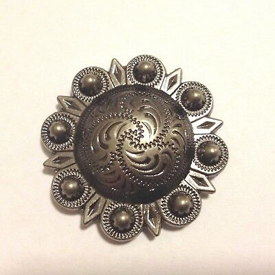 """Antique Nickle Berry Concho 3/4"""""""