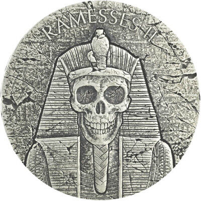 2017 Republic Of Chad Egyptian Relic Series Ramesses Afterlife AG Antiq. Coin