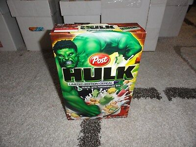 Limited Edition Post HULK 2004 Cereal Box NET WT 13.5 OZ FULL UNOPENED NICE !!!