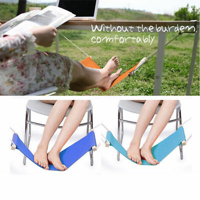 Portable Adjustable Office Foot Rest Stand Desk Feet Hammock Easy Disassemble