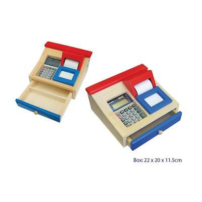 Fun Factory Wooden Cash Register Kids Children Learning Educational Activity Toy