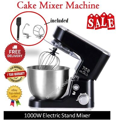 Cake Stand Mixer Food Mixing Machine Dough Baking Device Benchtop Whisking Bowl