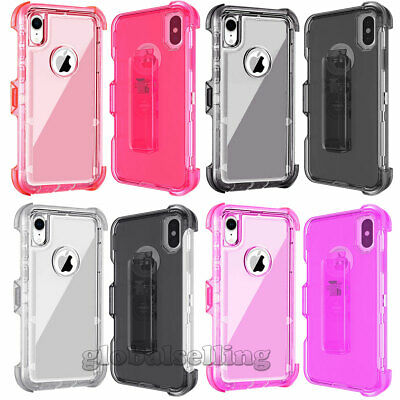 For Apple iPhone X XS XR XS Max Hybrid Clear Shockproof Protective Cover Case