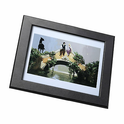 Tangled Disney Film Framed Genuine Postcard Rapunzel and Flynn on Bridge Frame