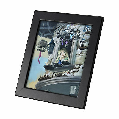 Tangled Disney Film Framed Genuine Postcard Rapunzel on the Window Frame