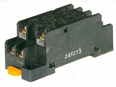 3 x PTF08A Relay Socket Base, for Relays LY2NJ , LY2N