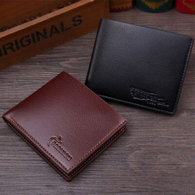 Men's Burning pattern Leather Credit Card Holder Wallet ID Cash Purse Clutch New