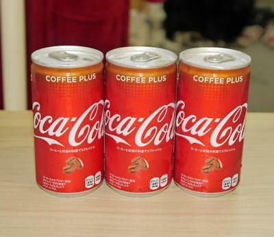 Lot Of 3 Coke Coffee Plus Soft Drink Japan Limited Edition Flavor Caffeine Cola