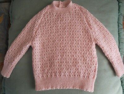 Baby Clothes - Hand Knitted Girls Jumper To Fit 6Mths - Brand New