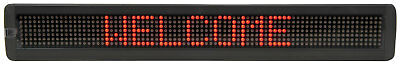 7 x 80 Red LED Moving message display MKII
