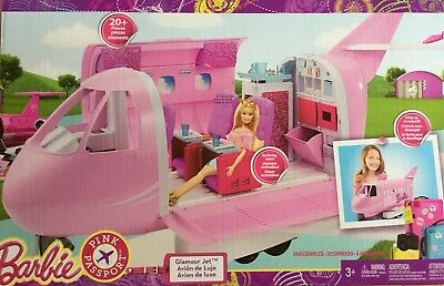 Barbie Glamour Jet Pink Plane New In Box Free Postage
