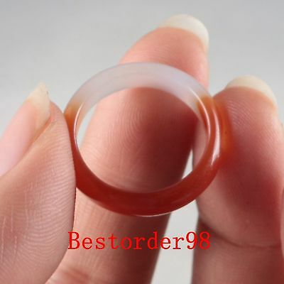 Exquisite Natural Jade Handwork Carved Ring PC0015