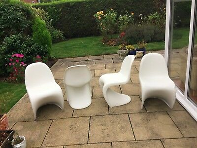 Verner Panton S Chairs White and Original
