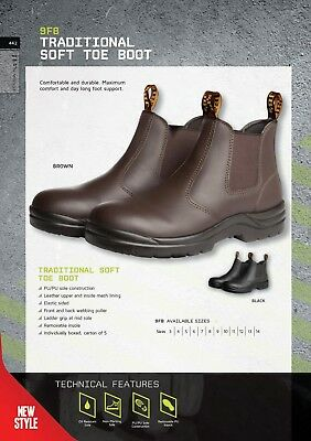 JB's wear Soft Toe Elastic Sided Durable Comfortable Boots Oil Resistant Sole