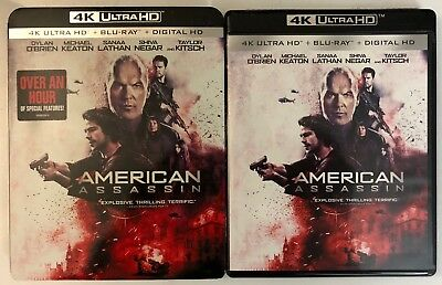 American Assassin 4K Ultra Hd Blu Ray 2 Disc Set Slipcover Sleeve Free Shipping