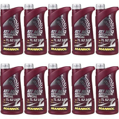 10X1 LITRE GENUINE Mannol Automatic Transmission Fluid ATF AG52 Special