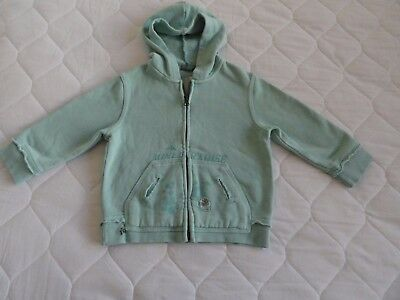 Baby Outerwear Hoodie Mint Green Size 18 months