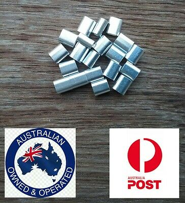 20 X M4 ALUMINIUM SWAGE FERRULE for 4mm STAINLESS WIRE CABLE ROPE CRIMP CRIMPING