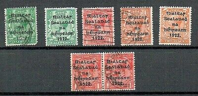 Ireland 1922 - Provisional Govt Overprint - 5 Values And 1 Pair - Used