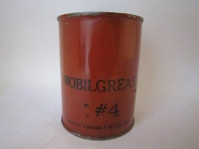 Vintage Oil Can Socony Vacuum Mobil Grease #4 1 Pound Very Rare Original Can
