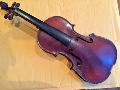 "Antique, Violin, ""Medio Fino"", small size, parts, 1850-1899, Made in France"