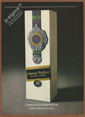 JOHNNIE WALKER Black Label -Scotch Whisky-1968 Vintage Print Ad