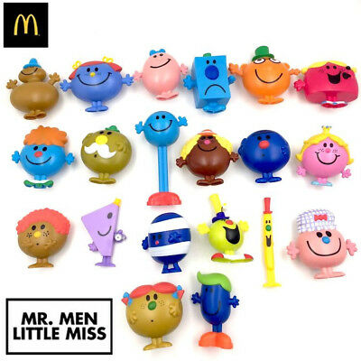 2017 MR. MEN LITTLE MISS McDonald's Happy Meal Toys Xmas Gift + Tracking Number