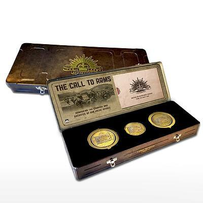 Anzac 100 Year Centenary Gallipoli Medals Collection Great War In Artillery Tin