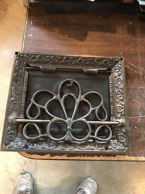 Br 34 Antique Cast-Iron Floor To Wall Mount Heating Great 10 X 12""