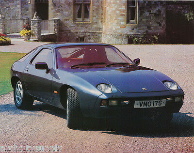 Lot Of 2 Small Posters: Cars :old Blue Porsche 928  Free Ship   #17-768   Lp57 M