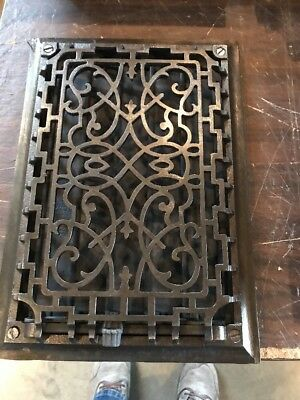 Br 38 Antique Wall Mount Decorative Heating Grate 9 1/2 X 13 1/2