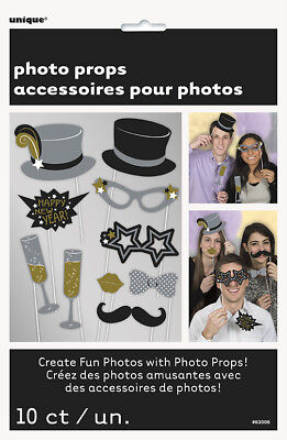 10 New Years Eve Party Photo Booth Props Sale Reduced to Clear
