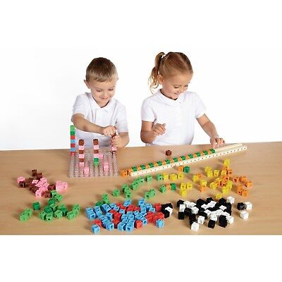 2cm Multilink Interlocking Counting Cubes Prisms & Isos 20mm Maths Teaching Aid
